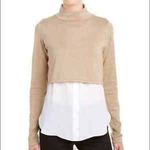 Elie Tahari crop sweater w/tunic